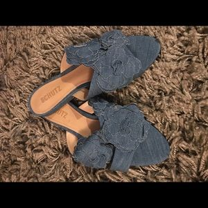 Schutz Denim slides New w/o Tags